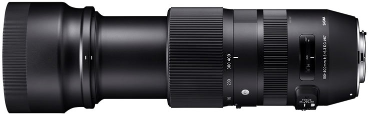 Цена телеобъектива Sigma 100-400mm F5-6.3 DG HSM OS Contemporary пока не названа