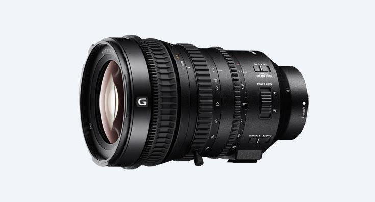 Объектив Sony E PZ 18-110mm F4 G OSS для видеосъемки имеет моторизованный трансфокатор