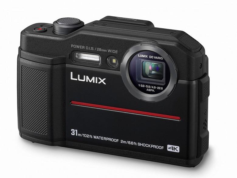 Компактная камера в усиленном исполнении Panasonic Lumix FT7 оборудована электронным видоискателем