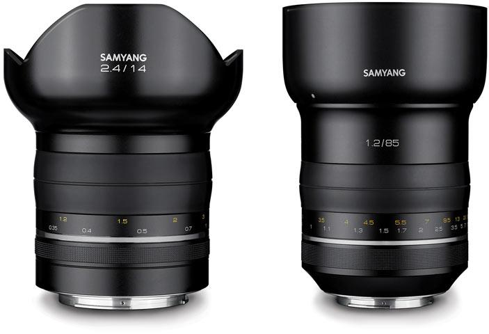 Семейство полнокадровых объективов Samyang Premium MF открыли модели 85mm F1.2 и 14mm F2.4