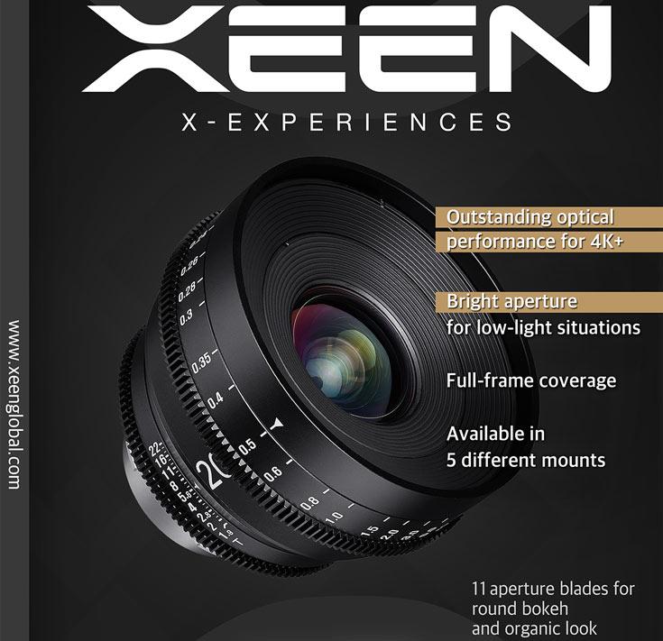 Продажи Samyang Xeen 20mm T1.9 начнутся в марте по рекомендованной розничной цене 2200 евро