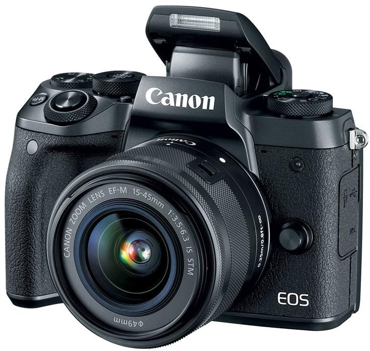 Камера Canon EOS M5 оснащена электронным видоискателем