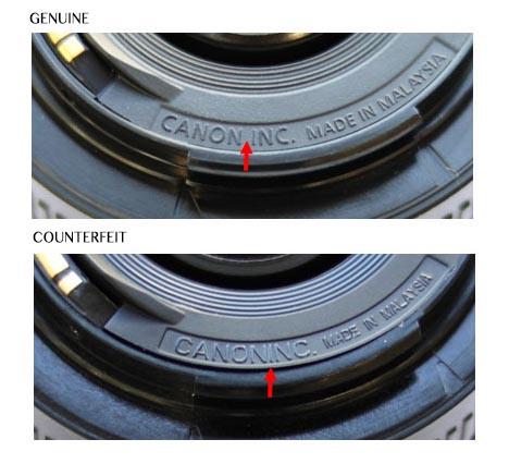 Производитель предупреждает, что снимает с себя ответственность за возможные последствия использования поддельных объективов