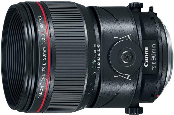 Любой из объективов Canon TS-E  50mm f/2.8L Macro, TS-E 90mm f/2.8L Macro и TS-E 135mm f/4L Macro стоит $2199