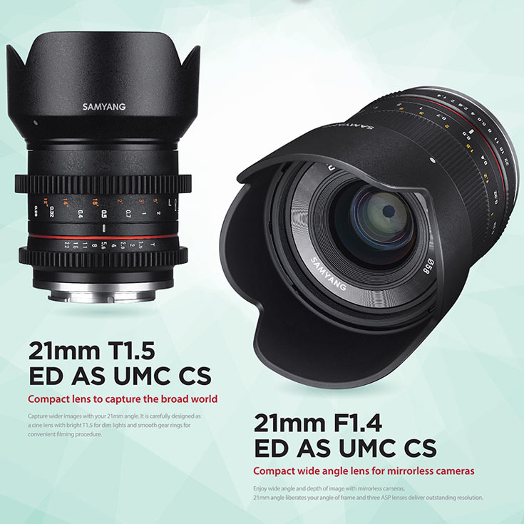 Продажи объективов Samyang 21mm F1.4 ED AS UMC CS, Samyang 50mm F1.2 AS UMC CS, Samyang 21mm T1.5 ED AS UMC CS и