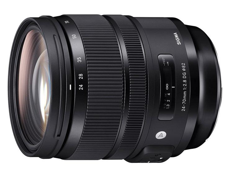 На объектив Sigma 24-70mm F2.8 DG HSM OS Art можно устанавливать фильтры диаметром 82 мм