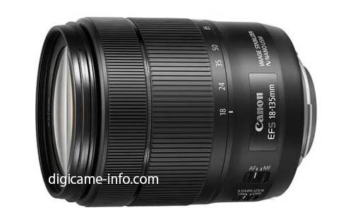 Ожидается, что одновременно с камерой будет представлен объектив Canon EF-S18-135mm f/3.5-5.6 IS USM