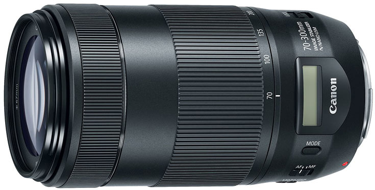 Продажи Canon EF 70-300mm F/4.5-5.6 IS II USM должны начаться в ноябре