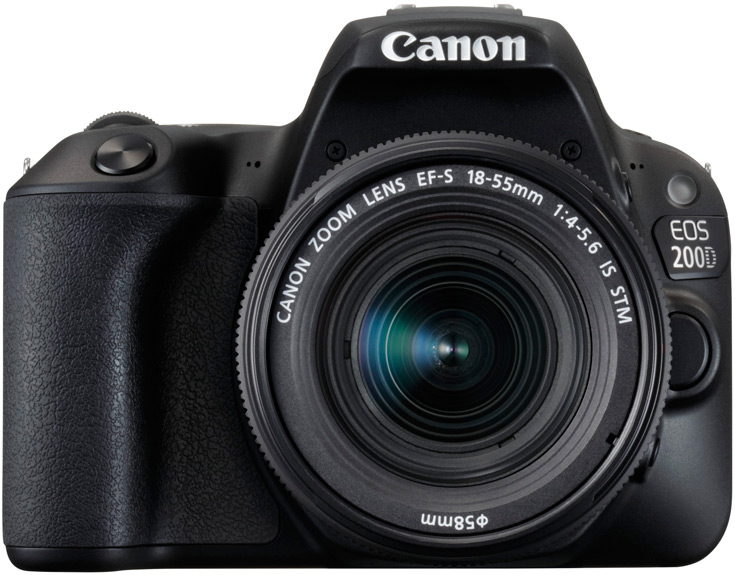 Производитель называет Canon EOS 200D своей самой легкой зеркальной камерой с подвижным экраном