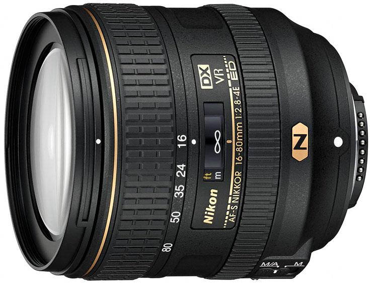 Рекомендованная цена объектива AF-S DX Nikkor 16–80mm f/2.8–4E ED VR — $1070