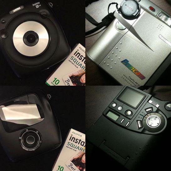 Fujifilm Instax Square SQ10 и Fujifilm Finepix PR21