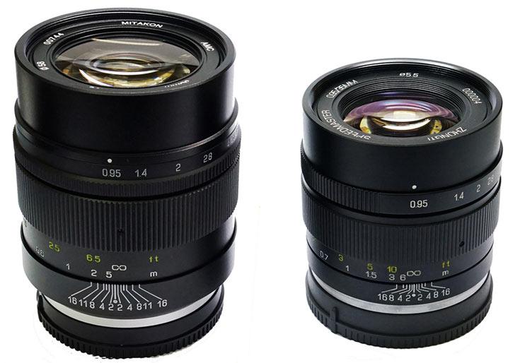 Объективы Mitakon Speedmaster 35mm f/0.95 Mark II выпускаются в вариантах для камер Sony E, Fujifilm X и Canon EOS-M