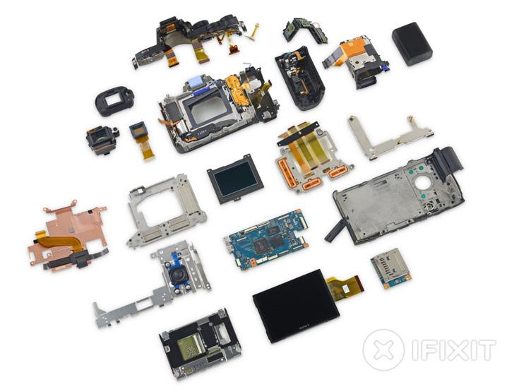 Ремонтопригодность камеры Sony a7R II оценена в четыре балла из десяти