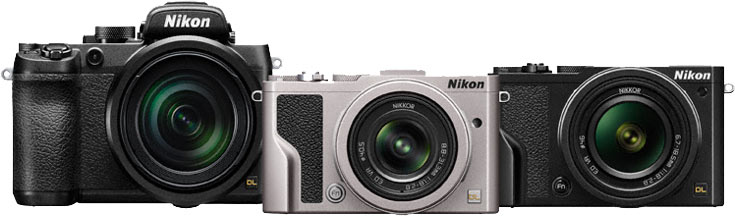 В компактных камерах Nikon DL24-85, DL18-50 и DL24-500 используются дюймовые датчики изображения