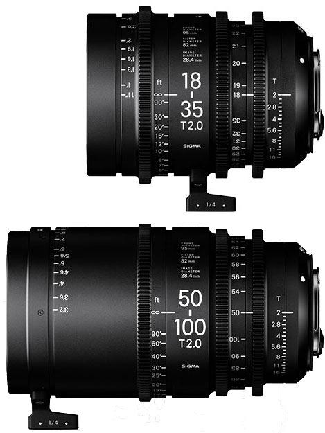 Объективы Sigma Cine High Speed Zoom 18-35mm T2 и 50-100mm T2 предназначены для видеосъемки