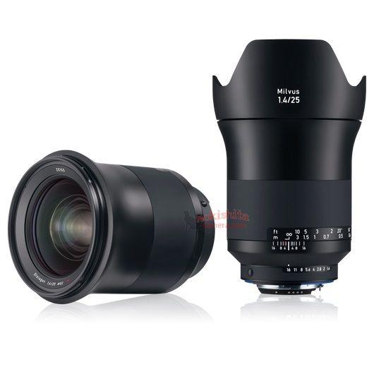 Скоро будет представлен объектив Zeiss Milvus 1.4/25 для камер Canon и Nikon