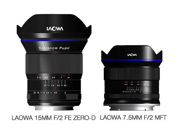 В продаже Laowa 15mm f/2 FE Zero-D и Laowa 7.5mm f/2 MFT должны появиться в начале 2017 года