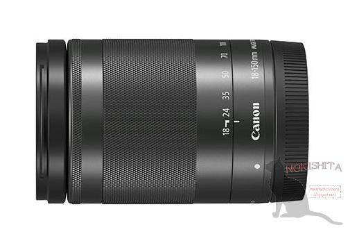 Появились изображения и спецификации объектива Canon EF-M 18-150mm IS STM