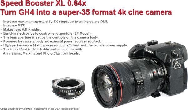Анонсирован адаптер Metabones Speed Booster XL 0.64x для камеры Panasonic Lumix G DMC-GH4