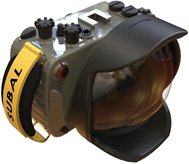 Бокс для подводной съемки Subal GX80 позволяет использовать встроенную вспышку камеры