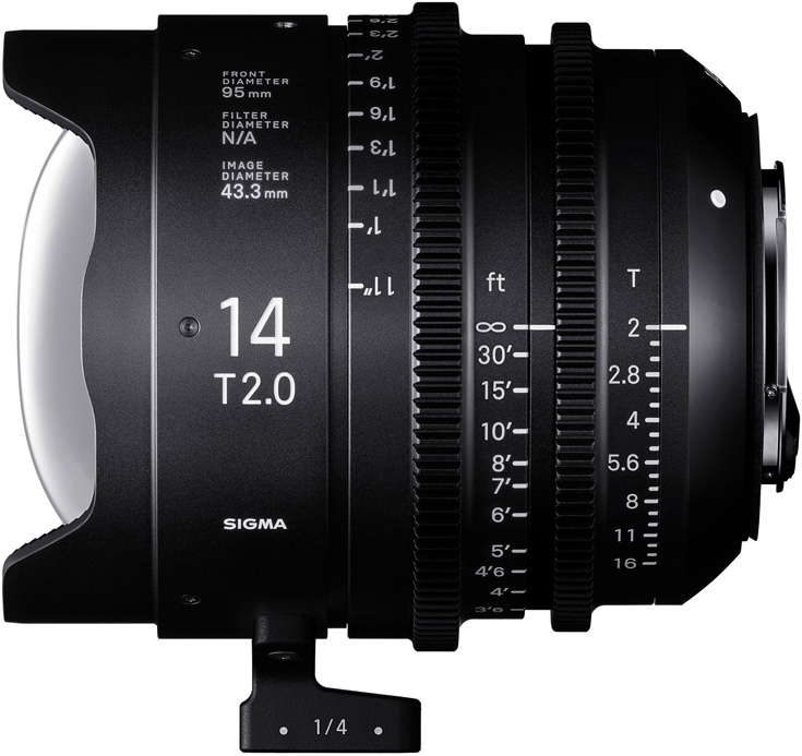 Объектив Sigma Cine 14mm T2