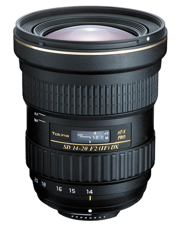 Объектив Tokina AT-X 14-20 PRO DX предназначен для зеркальных камер формата APS-С